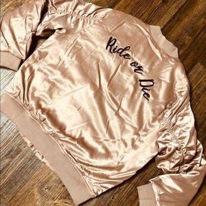 Small Lush blush bomber jacket
